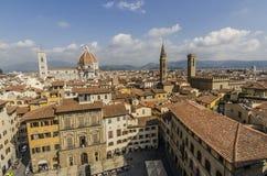 Vista panorámica de la ciudad de Florencia foto de archivo