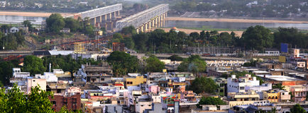 Vista panorámica de la ciudad india del sur Imágenes de archivo libres de regalías
