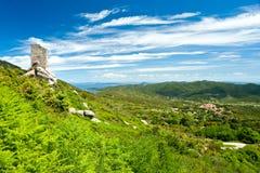 Vista panorámica de la isla de Elba. fotos de archivo