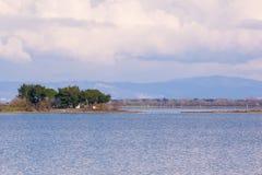 Vista panorámica de la laguna de Grado cerca de Trieste Fotografía de archivo libre de regalías