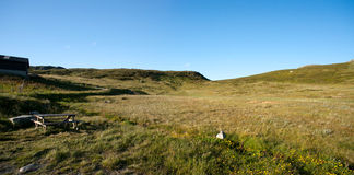 Vista panorámica de la meseta Valdresflye, Jotunheimen de la montaña Fotografía de archivo