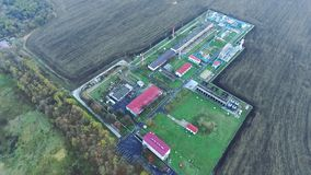 Vista panorámica de la planta de tratamiento del gas metrajes