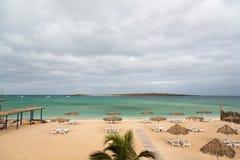 Vista panorámica de la playa de la boa Vista, Cabo Verde de la isla imágenes de archivo libres de regalías