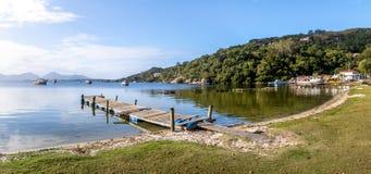 Vista panorámica de Lagoa DA Conceicao - Florianopolis, Santa Catarina, el Brasil foto de archivo