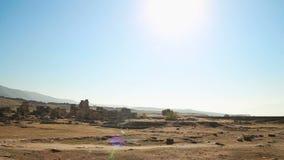 Vista panorámica de las ruinas de la ciudad antigua almacen de metraje de vídeo