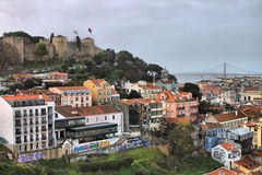 Vista panorámica de Lisboa Fotografía de archivo libre de regalías