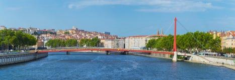 Vista panorámica de Lyon, Francia fotos de archivo