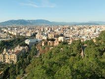 Vista panorámica de Málaga Imagen de archivo libre de regalías