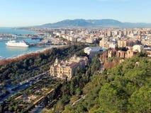 Vista panorámica de Málaga Fotografía de archivo libre de regalías