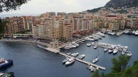 Vista panorámica de Mónaco en la primavera de 2018 metrajes