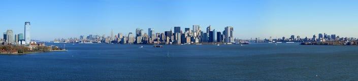 Vista panorámica de Manhattan más inferior, Nueva York Imágenes de archivo libres de regalías