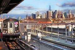 Vista panorámica de Manhattan Nueva York, los E Fotografía de archivo