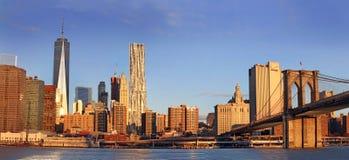 Vista panorámica de Manhattan Nueva York, los E Imagen de archivo