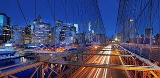 Vista panorámica de Manhattan Nueva York, los E Fotos de archivo libres de regalías