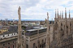 Vista panorámica de Milano, Italia Foto de archivo libre de regalías
