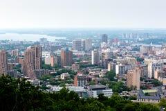 Vista panorámica de Montreal Fotos de archivo libres de regalías