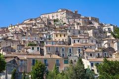 Vista panorámica de Morano Calabro Calabria Italia Fotografía de archivo