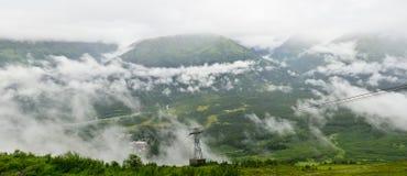 Vista panorámica de Mt. Alyeska, Girdwood, Alaska, los E.E.U.U., Alaska, los E.E.U.U. Foto de archivo