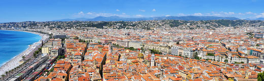 Vista panorámica de Niza, Francia Imagen de archivo libre de regalías