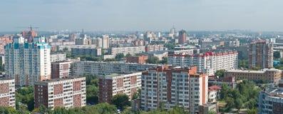 Vista panorámica de Novosibirsk fotografía de archivo