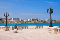 Vista panorámica de Otranto. Puglia. Italia. Imagen de archivo libre de regalías