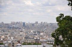 Vista panorámica de París del Sacre-Coeur fotografía de archivo libre de regalías