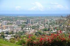 Vista panorámica de Ponce, Puerto Rico Fotos de archivo