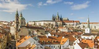 Vista panorámica de Praga en otoño Foto de archivo libre de regalías