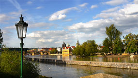 Vista panorámica de Praga en otoño Fotografía de archivo libre de regalías