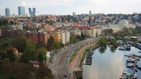 Vista panorámica de Praga en otoño Fotos de archivo