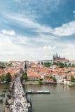 Vista panorámica de Praga, República Checa Foto de archivo