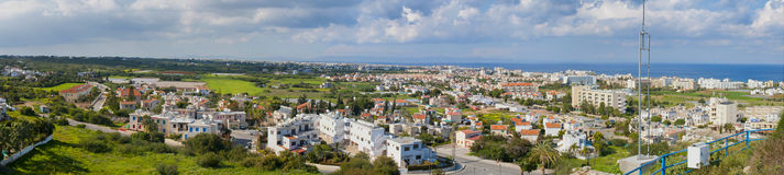 Vista panorámica de Protaras, Chipre Fotografía de archivo libre de regalías