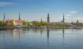 Vista panorámica de Riga Foto de archivo libre de regalías