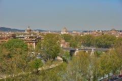Vista panorámica de Roma Foto de archivo libre de regalías