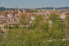 Vista panorámica de Roma Imagen de archivo libre de regalías