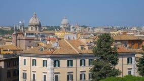 Vista panorámica de Roma céntrica, Italia, Europa almacen de video
