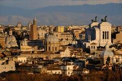 Vista panorámica de Roma Italia de la altura Imagen de archivo