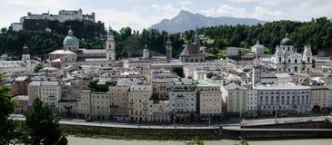 Vista panorámica de Salzburg, Austria Fotos de archivo