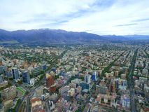 Vista panorámica de Santiago de Chile foto de archivo