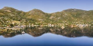 Vista panorámica de Selimiye Selimiye es un pueblo en Marmaris Imagenes de archivo