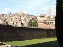 Vista panorámica de Siena Imagen de archivo
