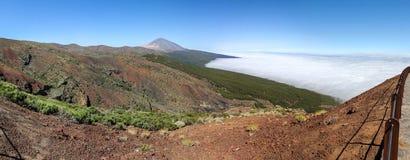 Vista panorámica de Teide, Tenerife, isla canaria, España Fotografía de archivo