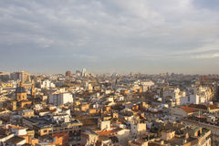 Vista panorámica de Valencia, España Imagen de archivo libre de regalías
