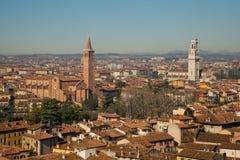 Vista panorámica de Verona Fotografía de archivo