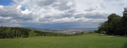 Vista panorámica de Viena imagen de archivo