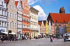 Vista panorámica del centro de Landshut Fotos de archivo libres de regalías