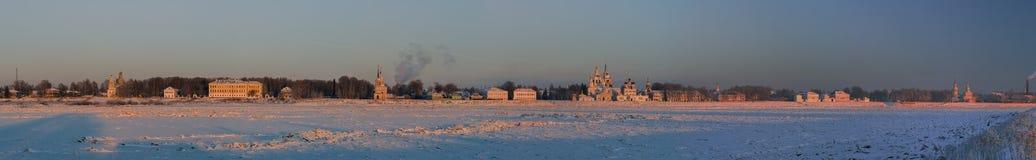 Vista panorámica del centro histórico de Veliky Ustyug, Rusia Foto de archivo