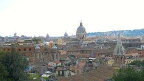 Vista panorámica del centro histórico Roma, Italia almacen de metraje de vídeo
