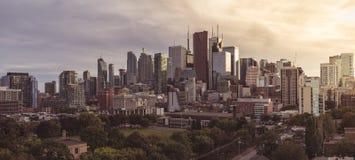 Vista panorámica del corazón de Toronto fotografía de archivo libre de regalías