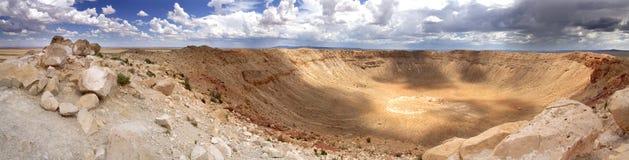 Vista panorámica del cráter del meteorito - Arizona imágenes de archivo libres de regalías